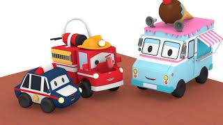 Super ice cream truck - Tiny Town: Street Vehicles Ambulance Police Car Fire Truck