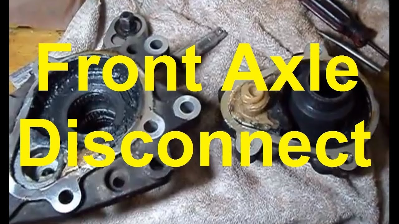 how to remove the front axle disconnect on a trailblazer