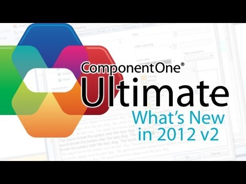 What's New in 2012 v2 ComponentOne Ultimate™