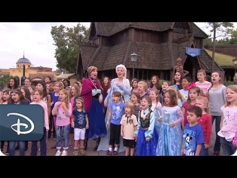 Frozen's 'Let it Go' Sing-Along Performed at Walt Disney World Resort | Disney Parks