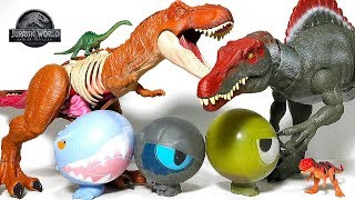 Hatch new Dinosaur Eggs Toys with Jurassic World Dinosaur Toys Fun Video for Kids!