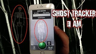 (WE GOT LURED?!) DONT LOOK FOR GHOSTS IN THE FOREST AT 3 AM WITH A GHOST TRACKER APP | OLD MAN FOUND