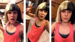 Millie Bobby Brown imitating Maddie Ziegler | Snapchat