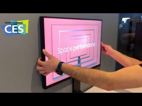 CES 2019 - Samsung Space Monitor: Meine Güte, ist das ordentlich!