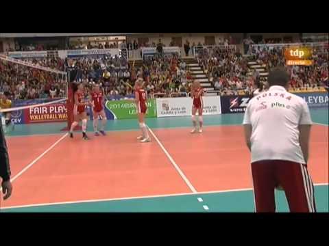 España 1 -  3 Polonia  (Liga Europea Voleibol Femenino 2014) Valladolid