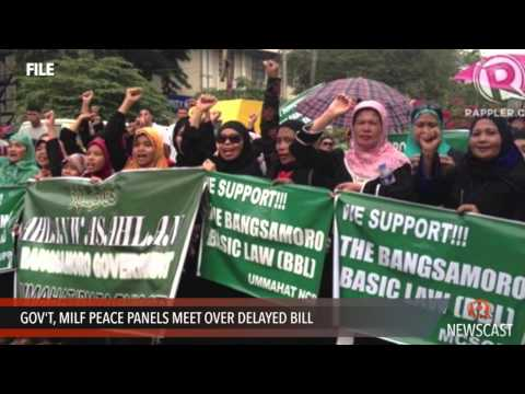 Gov't, MILF peace panels meet over delayed bill