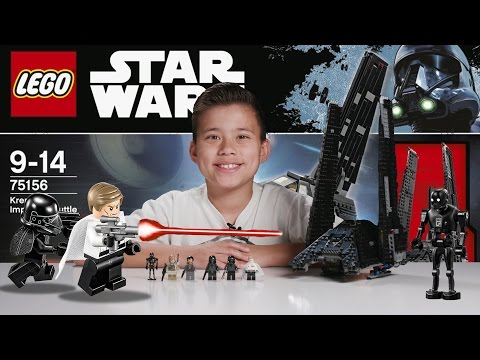 KRENNIC'S IMPERIAL SHUTTLE - LEGO Star Wars ROGUE ONE Set 75156 Time-lapse. Unboxing & Review