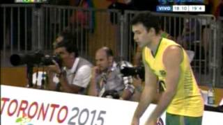 Volley 2015 Final Panamericanos Argentina 3 vs Brasil 2 Final del 4to. Set