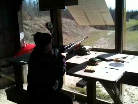 Steve shooting a Remington 760 30.06 at port Elgin