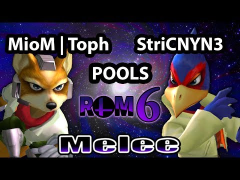 RoM 6 - MioM | Toph (Fox) Vs. MGFC | StriCNYN3 (Falco) SSBM Pools Winners Finals - Smash Bros. Melee