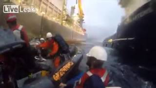 Spanish Navy ram Greenpeace activists 15/11