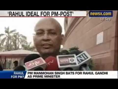 Rahul Gandhi for Prime Minister - Manmohan Singh happy to work under Rahul