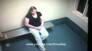 Woman Puts Hand In Her Vagina & Removes Drugs In Police Cell CCTV