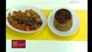 #الستات_مايعرفوش_يطبخوا |   صينية السمك البوري - ارز بالبصل والقرفه