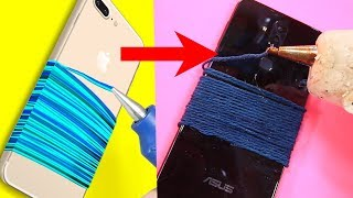 Trying 23 BRILLIANT PHONE HACKS By 5 Minute Crafts