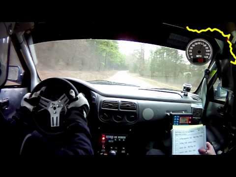 100 Acre Wood Rally 2012 SS2 GPS Speed and Map