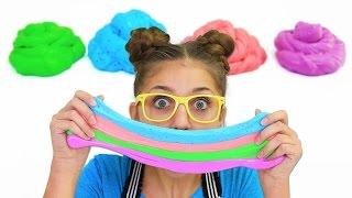 Kalium's Easy DIY Fluffy Slime | How to Make Slime | Kamri Noel