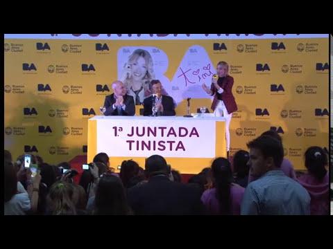Macri presentó el show gratuito que dará la cantante Tini Stoessel