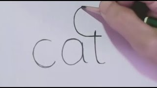 How to turn Words Cat Into a Cartoon Cat. (Wordtoons)