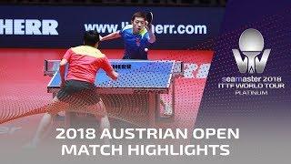 Xu Xin vs Liang Jingkun I 2018 ITTF Austrian Open Highlights (Final)