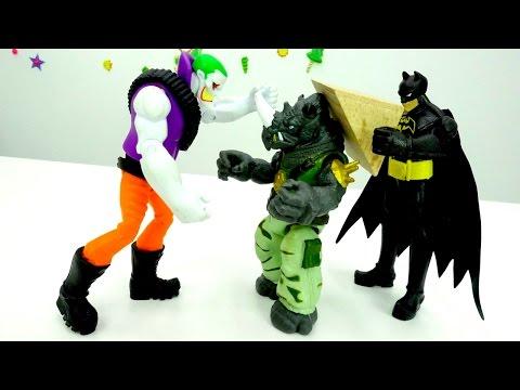 Бэтмен и Джокер в городе! Видео для мальчиков с супергероями.