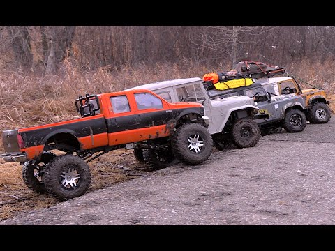 RC CWR 3 Gelande II And 1 Custom Build Rig Take On The Frozen Trails