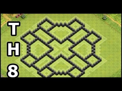 Clash of Clans Town Hall 8 Defense (CoC TH8) BEST Trophy Base Layout Defense Strategy 2017
