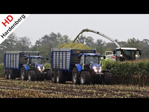 Claas Jaguar 950 | New Holland T7.220 | Berkhof in de modder | mud | NL | Mais 2013 | Maize | Corn.