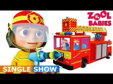 Zool Babies As Fire Fighters (Single)| Videogyan Kids Shows | Cartoon Animation | Zool Babies Series