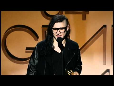 GRAMMYs Live - Skrillex accepting his FIRST GRAMMY Music Videos