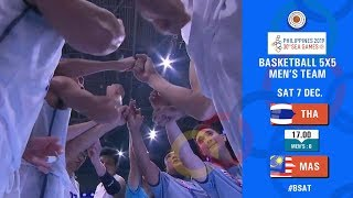 BASKETBALL SEAGAMES 2019 (MENS) THAILAND VS MALAYSIA  07 December 2019
