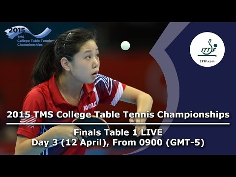 2015 TMS College Table Tennis Championships - FINALS Table 1 LIVE