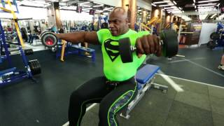 Toney Freeman. Delts workout.