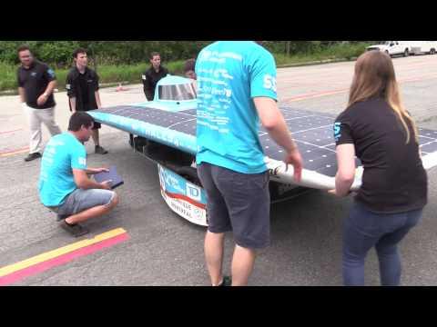 Solar car at Montreal's École Polytechnique de