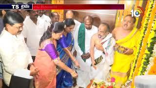 Vemula Prashanth Reddy Takes Charge As Road and Buildings Minister At Telangana Secretariat