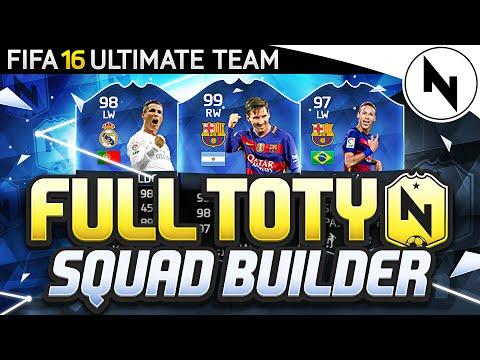 FULL TOTY SQUAD BUILDER! - 99 MESSI, 98 RONALDO, 93 POGBA - FIFA 16