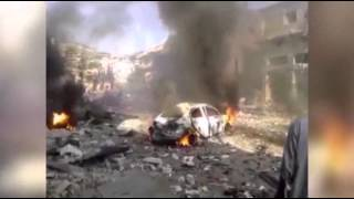 Raw: Car Bomb Explodes in Northern Syria  10/14/13
