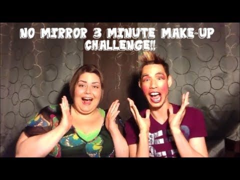 3 Minute Make Up Challenge   How To Look Like A Bad Drag Queen