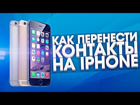 Как перенести контакты на iPhone? — apple-iphone ru