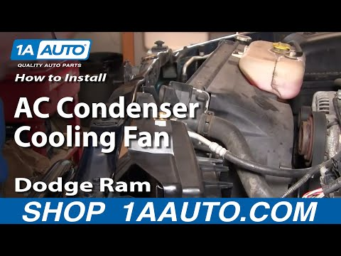How To Install Repair Replace Part 2 AC Condenser Cooling Fan Dodge Ram 02-08 1A