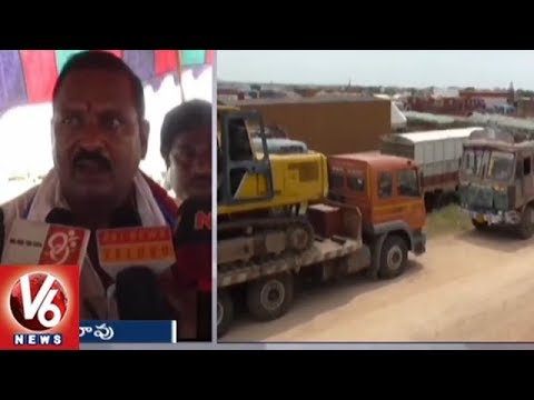 Kodada Lorry Owners Association Participates In Nationwide Indefinite Strike | V6 News