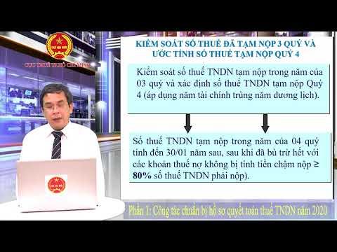 Các điểm lưu ý trong quyết toán thuế TNDN năm 2020 - Phần 1