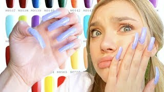 I Wore REALLY LONG Acrylic Nails For A Week... (First Time)