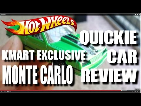 QUICKIE CAR REVIEW - Kmart k-day Exclusive MONTE CARLO - 2015 Hot Wheels