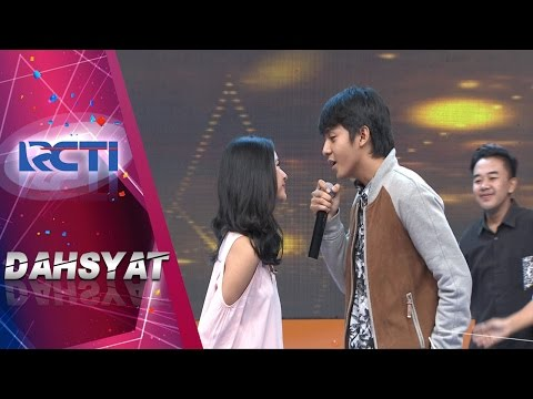 DAHSYAT - Ciee Ketangkep Kamera Arbani Colek Hidung Adinda Saat Nyanyi Be My Love [10 April 2017]