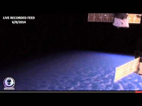 6/8/2014 NASA CUTS LIVE SPACE FEED! HD UFO APPEARS AT ISS
