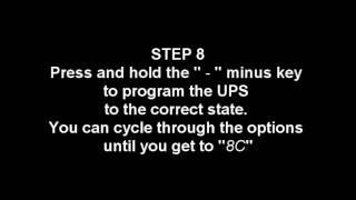 APC UPS Discharge problem reset / fix