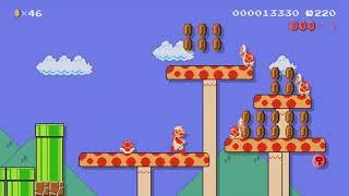 1-3:Shroom Lake Docks by Myuu - Super Mario Maker - No Commentary