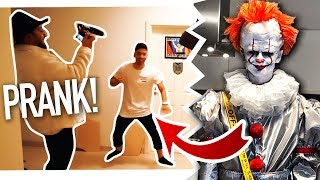 KILLER CLOWN PRANK an Freunde & Fremde! | PENNYWISE