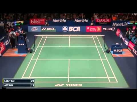 2015 BCA Indonesia Open R32 [MD] LEE Sheng Mu-TSAI Chia Hsin vs ATTRI-Reddy (F.G1 4-2) (Sports)